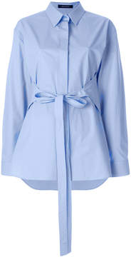 Cédric Charlier belted fitted shirt