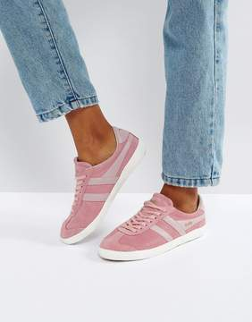 Gola Specialist Sneakers In Crackled Leather In Pink