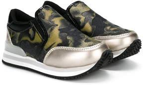 Diesel camouflage print slip-on sneakers