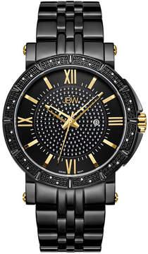 JBW Vault Black Ion-Plated Stainless Steel 0.24 C.T.W Diamond Accent Mens Black Bracelet Watch-J6343e