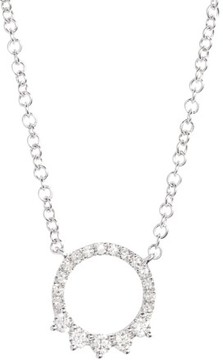 Ef Collection Women's Circle Pendant Necklace