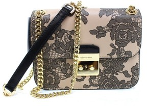 Michael Kors Sloan Lace Medium Chain Shoulder Bag in Oyster - BEIGE , OYSTER - STYLE