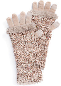 Muk Luks Women's Cable 3-in-1 Gloves