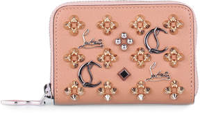 Christian Louboutin Panettone nude multi-spikes coin purse