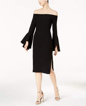 Bardot Off-The-Shoulder Bell-Sleeve Midi Dress