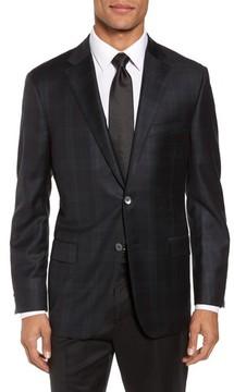 Hickey Freeman Men's Classic B Fit Plaid Wool Dinner Jacket