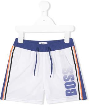 Trunks Boss Kids color block swim shorts