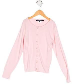 Lili Gaufrette Girls' Knit Button-Up Top