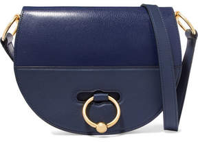 J.W.Anderson Latch Smooth And Textured-leather Shoulder Bag - Navy