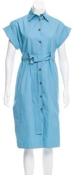Celine Belted Button-Up Dress