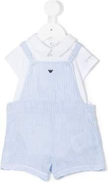 Emporio Armani Kids dungaree romper gift suit