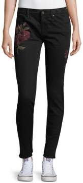 Driftwood Marilyn Skinny Floral Embroidered Jeans