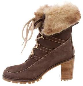 Hunter Nubuck Lace-Up Ankle Boots