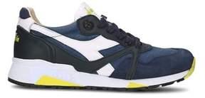 Diadora Heritage Men's Blue Leather Sneakers.