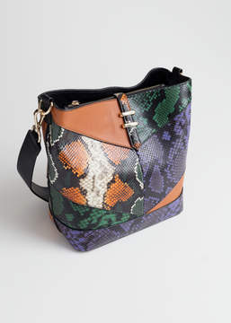 And other stories Leather Snake Bucket Bag