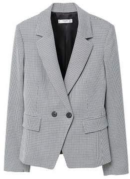 MANGO Houndstooth wool-blend blazer