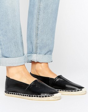 Pieces Haisha Metallic Black Espadrilles