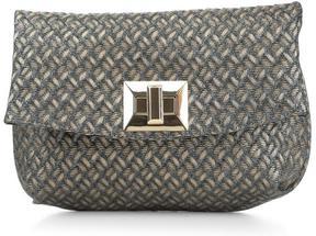 Women's TASSi - Woven Metallic Clutch