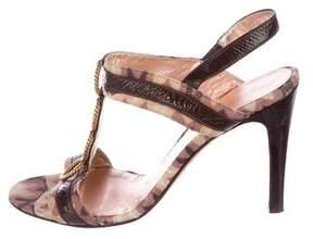 Missoni Embellished T-Strap Sandals