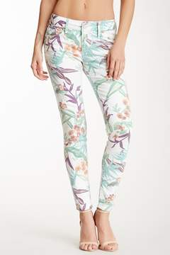 Black Orchid Jewel Mid Rise Floral Skinny Jeans