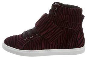 Just Cavalli Suede High-Top Sneakers w/ Tags