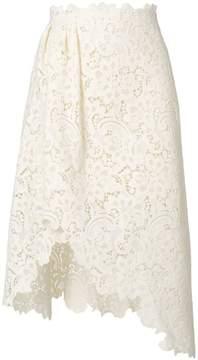 Ermanno Scervino lace asymmetric skirt