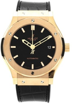 Hublot Classic Fusion 511.OX.1180.RX. 18K Rose Gold / Rubber 45mm Mens Watch