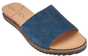 Sole Society As Is Leather or Suede Slide Sandals - Luna