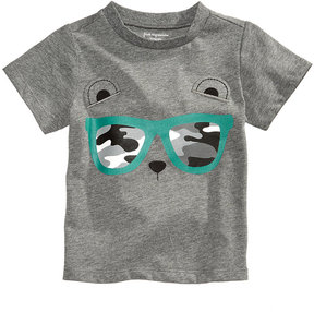 First Impressions Sunglasses Cub-Print Cotton T-Shirt, Baby Boys (0-24 months), Created for Macy's