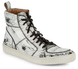John Varvatos Bedford Leather High-Top Sneakers