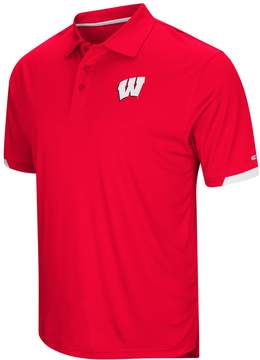 Colosseum Men's Wisconsin Badgers Wedge Polo