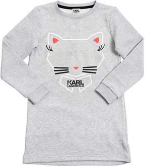 Karl Lagerfeld Choupette Embroidered Sweatshirt Dress