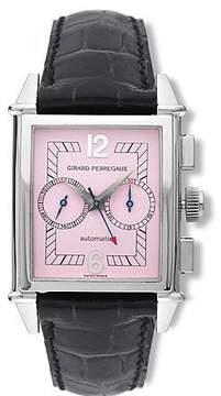 Girard Perregaux Vintage 1945 18kt White Gold Black Leather Men's Watch