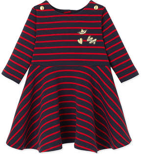 Petit Bateau Striped cotton-jersey dress 3-36 months