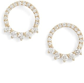 Ef Collection Women's Floating Open Circle Stud Earrings