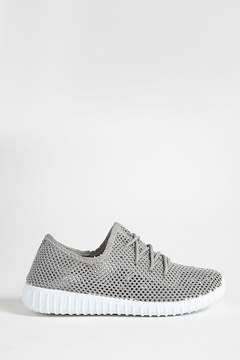 Forever 21 Qupid Knit Low-Top Tennis Shoes