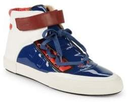 Bally Eartly Patent Leather High-Top Sneakers