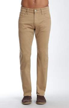 Mavi Jeans Myles Straight Leg In British Khaki Twill