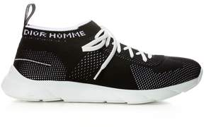 Christian Dior Black Technical Knit Trainer