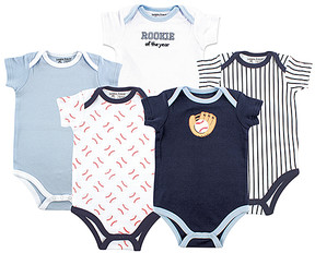 Luvable Friends Blue Baseball Bodysuit Set - Infant