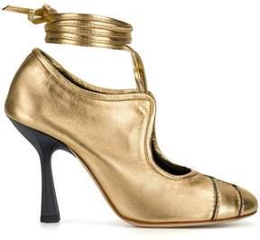 Marni high heel lace-up pumps