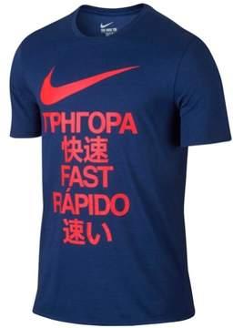 Nike Mens Dri-Fit Be Quick Graphic T-Shirt Blue XL