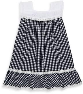 Design History Toddler's & Little Girl's Gingham Cap-Sleeve Dress