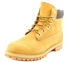 Timberland 6' Premium Waterproof Youth Round Toe Leather Beige Boot.