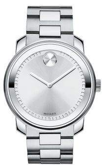 Movado Bold Silver Dial Stainless Steel Men's Watch 3600257