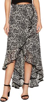 Dress the Population Women's Audrey Print High Low Skirt