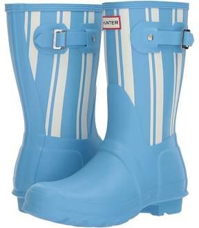 Hunter Garden Stripe Short Rain Boots Women's Rain Boots