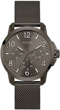 GUESS Men's Gunmetal Stainless Steel Mesh Bracelet Watch 42mm