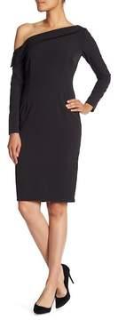 Alexia Admor One Shoulder Long Sleeve Sheath Dress