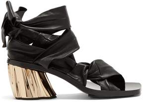 Proenza Schouler Ankle-tie block-heel leather sandals